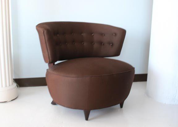 Superbe Hollywood Regency Gilbert Rohde Slipper Lounge Chair For Sale