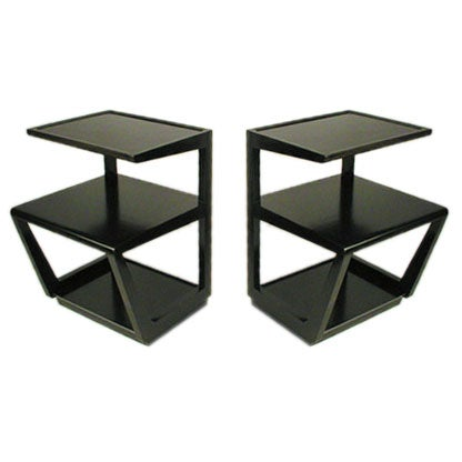 Pair Of Edward Wormley Three Tiered Tables From The Precedent Collection 1