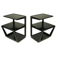Pair of Edward Wormley Three-Tiered Tables from the Precedent Collection