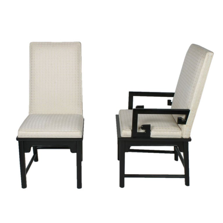 Set of 8 high back dining chairs 2 arm chairs and 6 side for High back dining room chairs with arms