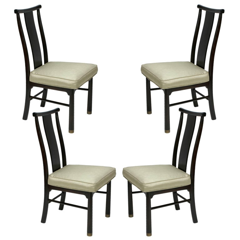 set of 4 henredon side chairs for sale at 1stdibs