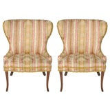 Pair of 1940's chairs with splayed legs