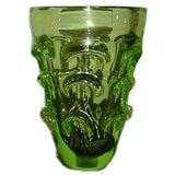 Mid-Century Green Glass Vase