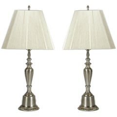 Pair of Nickel Lamps from the 1940s