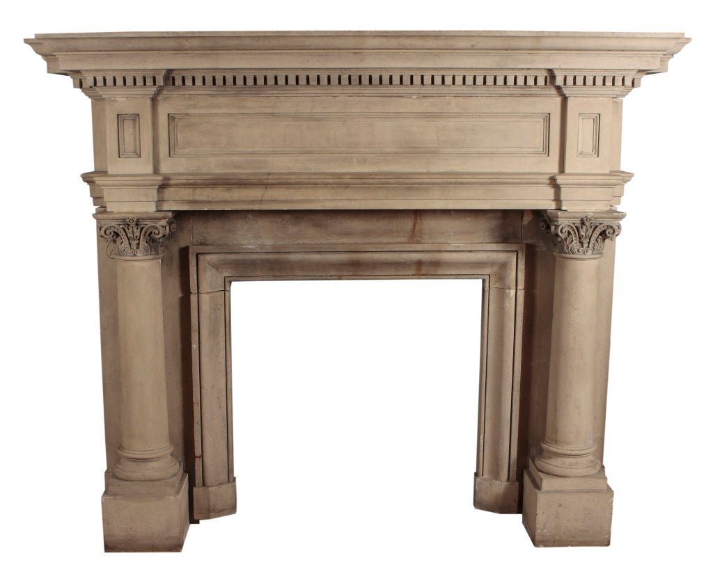 Monumental Cast Stone Fireplace Surround At 1stdibs