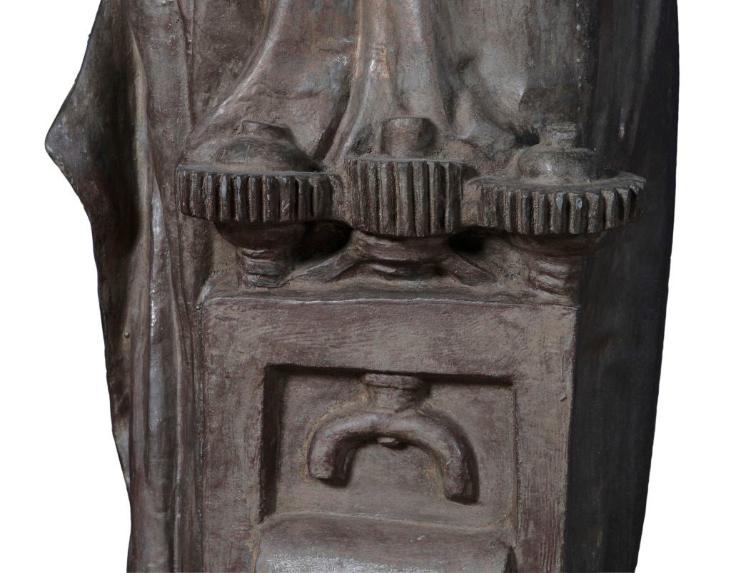 Statue Torchiere Of A Heroic Maiden At 1stdibs