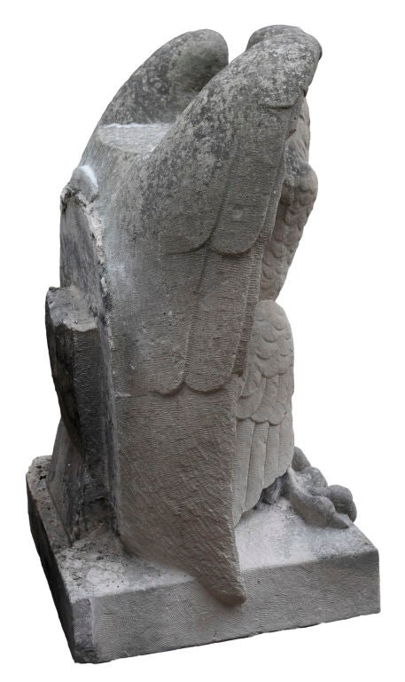 Pair of carved limestone eagles at stdibs