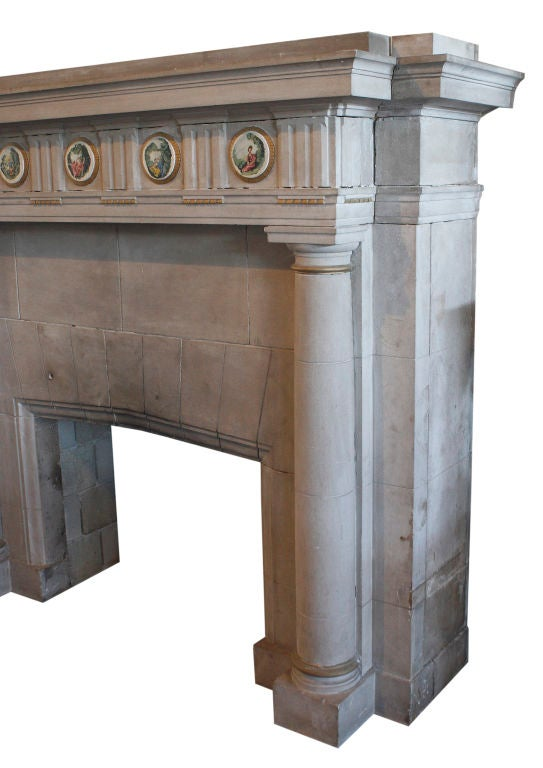 Carved Limestone Fireplace Surround 2