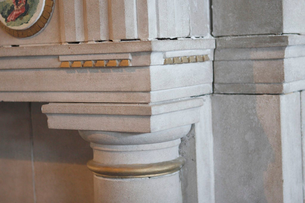 20th Century Carved Limestone Fireplace Surround For Sale