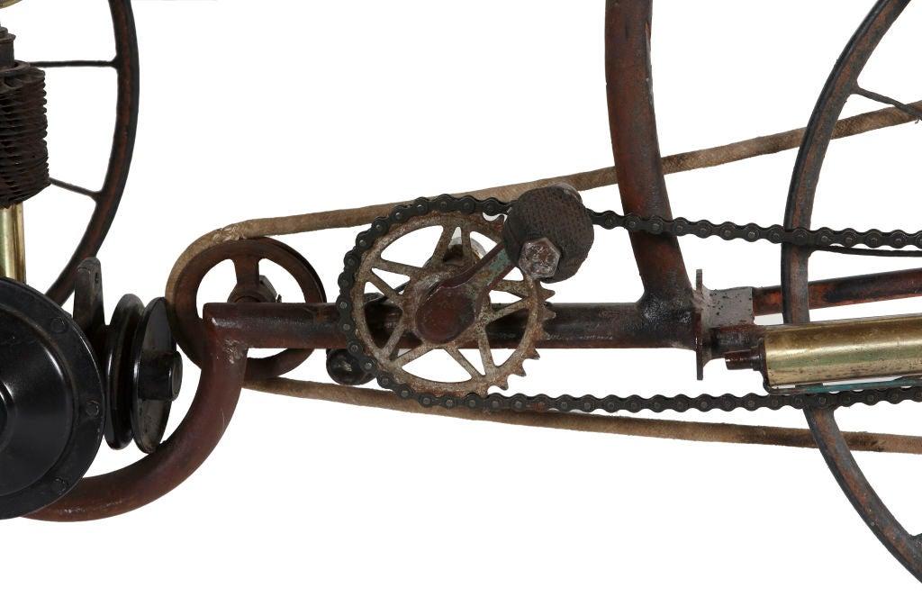 Wood GAS AND LEG POWERED BIKE