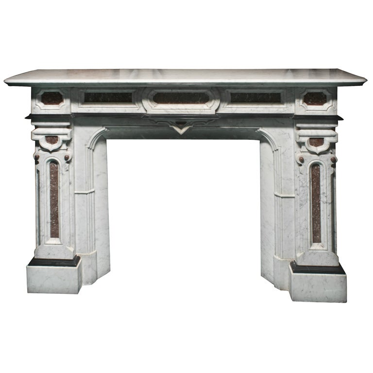 Marshall Fields Furniture: MARBLE FIREPLACE MANTEL FROM THE MARSHALL FIELD MANSION At