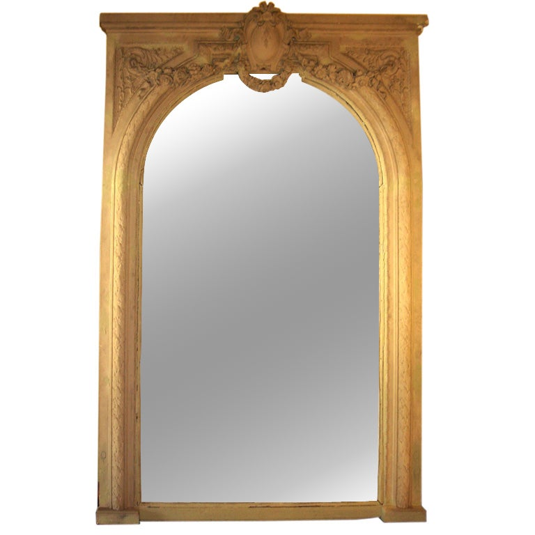 Large french wall floor mirror for Oversized mirror