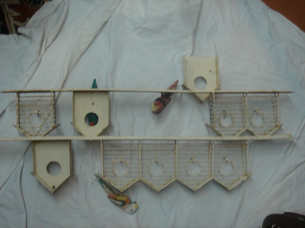 Bird Houses Metal Sculpture At 1stdibs
