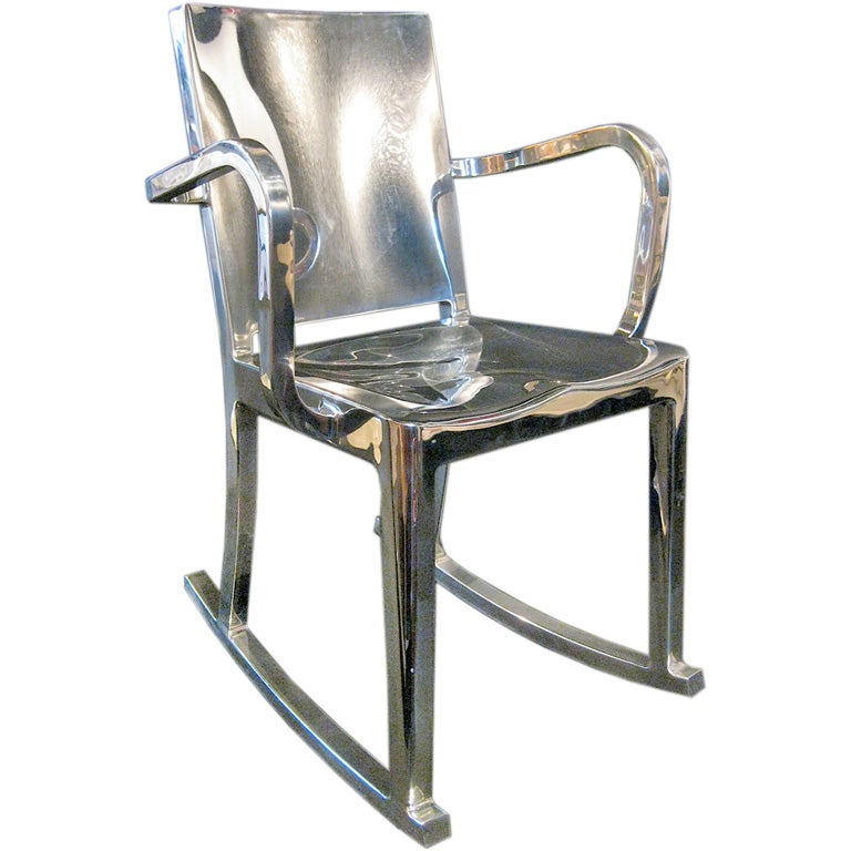 ROCKING CHAIR POLISHED STAINLESS STEEL BY PHILIPPE
