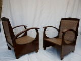 FOUR Edwardian Yacht Chairs :  chairs