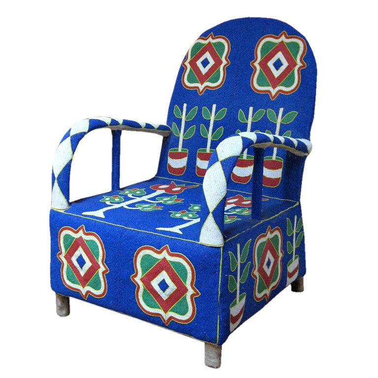 Yoruba Beaded Chair At 1stdibs