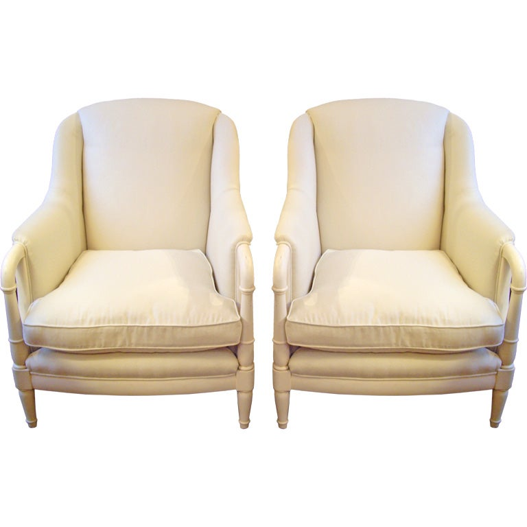 Pair Of 1950 S French Bergeres At 1stdibs