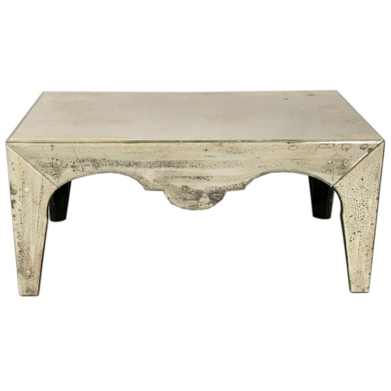 art deco style mirrored coffee table at 1stdibs