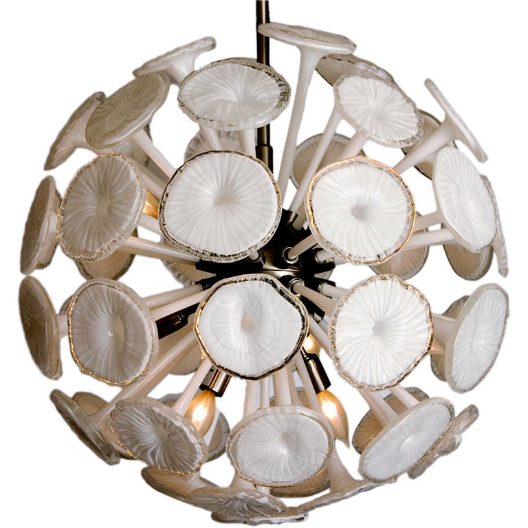 Murano Glass Quot Globe Quot Chandelier At 1stdibs