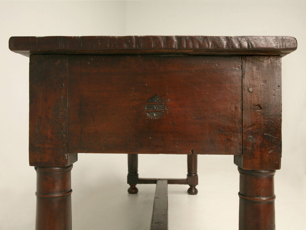 Rustic Italian Sofa Console Table At 1stdibs