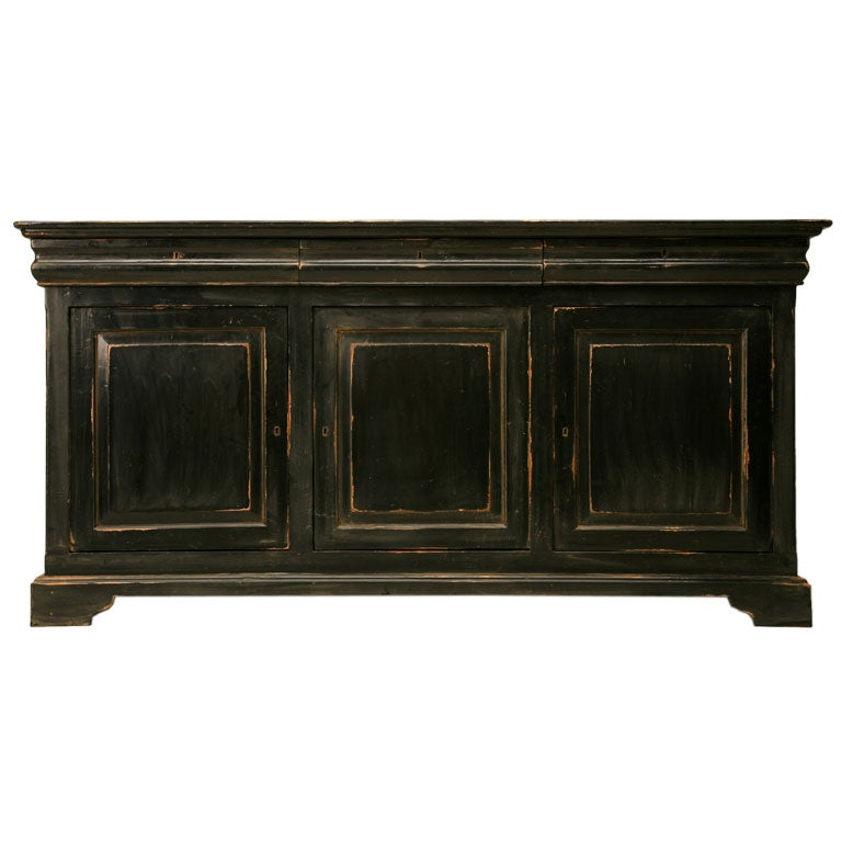 louis philippe style painted wood buffet at 1stdibs. Black Bedroom Furniture Sets. Home Design Ideas