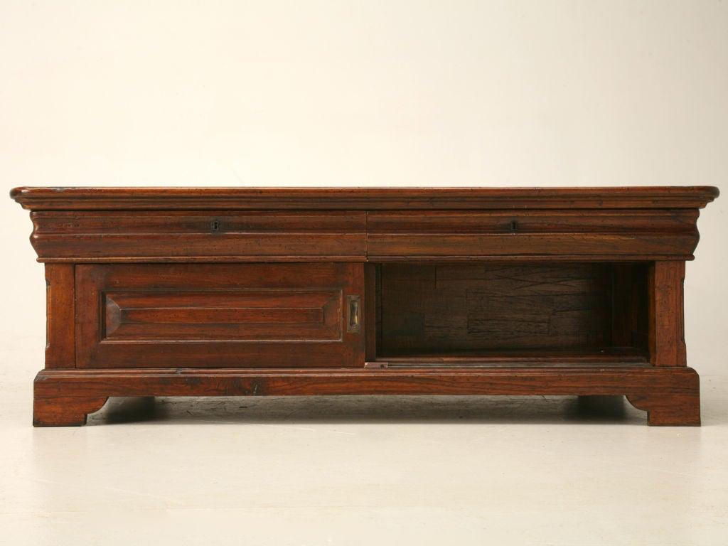 Louis philippe style reclaimed teak wood coffee table at - Table ronde style louis philippe ...