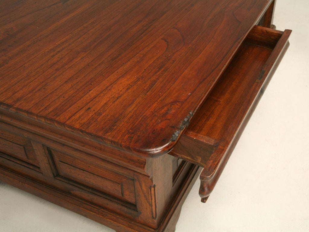Louis Philippe Style Reclaimed Teak Wood Coffee Table At