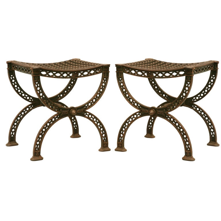 C 1890 1910 Pair Of Eiffel Tower Stools At 1stdibs