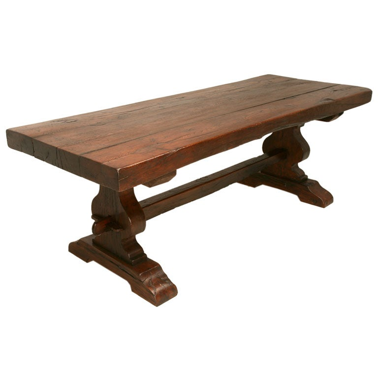 C rustic french oak trestle table at stdibs