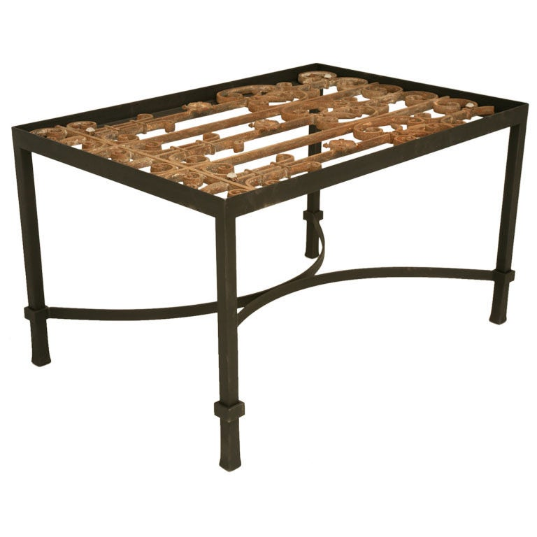 French Cast Iron Coffee Table At 1stdibs