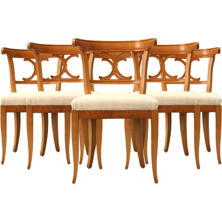 Antique Maple Dining Room Set Set Of 6 American Maple Dining Chairs At 1stdibs
