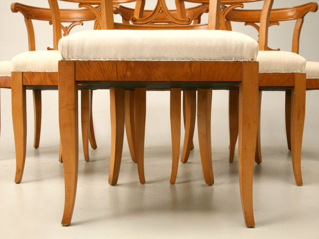 1950 set of 6 american maple dining chairs at 1stdibs