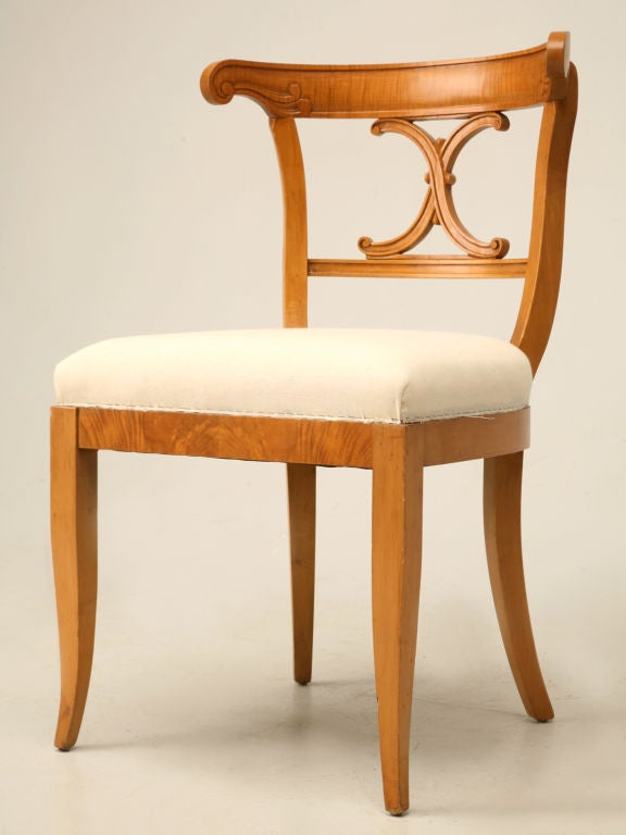 c 1950 Set of 6 American Maple Dining Chairs at 1stdibs