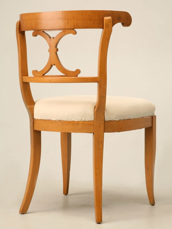 Set Of 6 American Maple Dining Chairs At 1stdibs