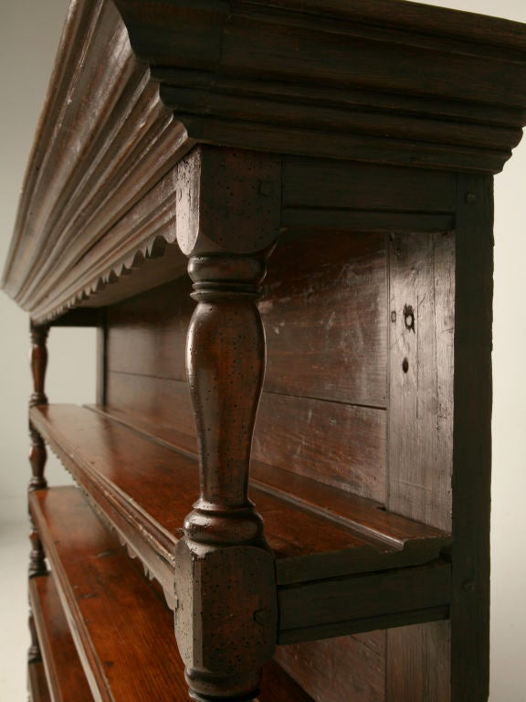 Georgian Original, 18th Century French Oak and Pine Plate Rack For Sale