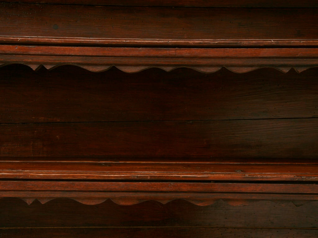 18th Century and Earlier Original, 18th Century French Oak and Pine Plate Rack For Sale