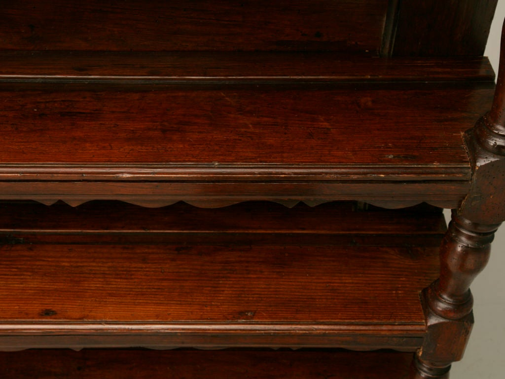 Original, 18th Century French Oak and Pine Plate Rack For Sale 2