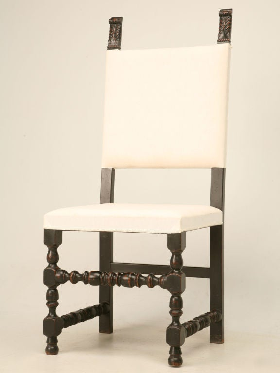 set of six country french throne style dining chairs for sale at