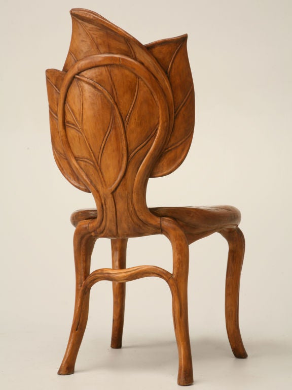 French Art Nouveau Sculptural Leaf Chair At 1stdibs