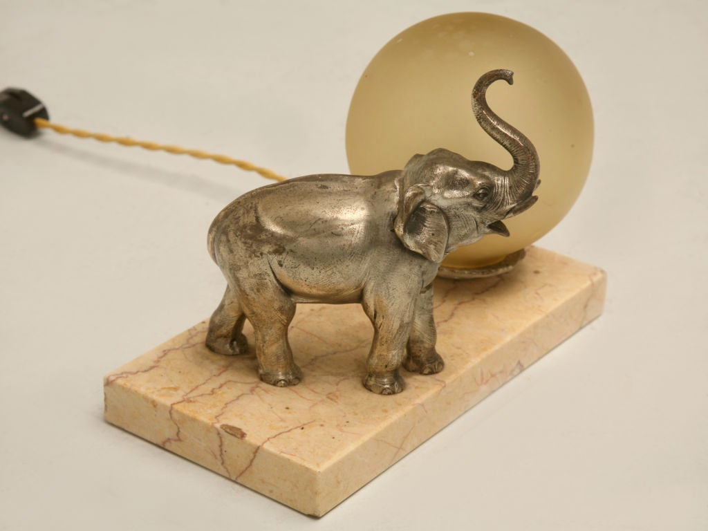 french art deco elephant lamp at 1stdibs. Black Bedroom Furniture Sets. Home Design Ideas