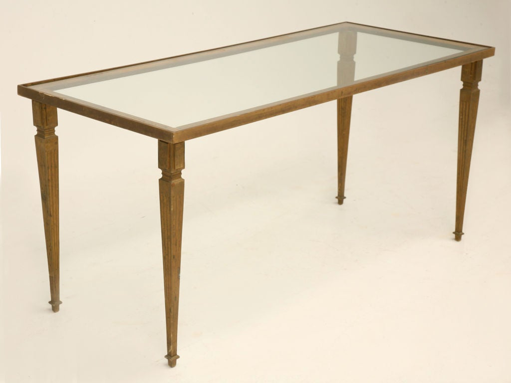 French 40 39 s bronze and glass coffee table at 1stdibs for French glass coffee table