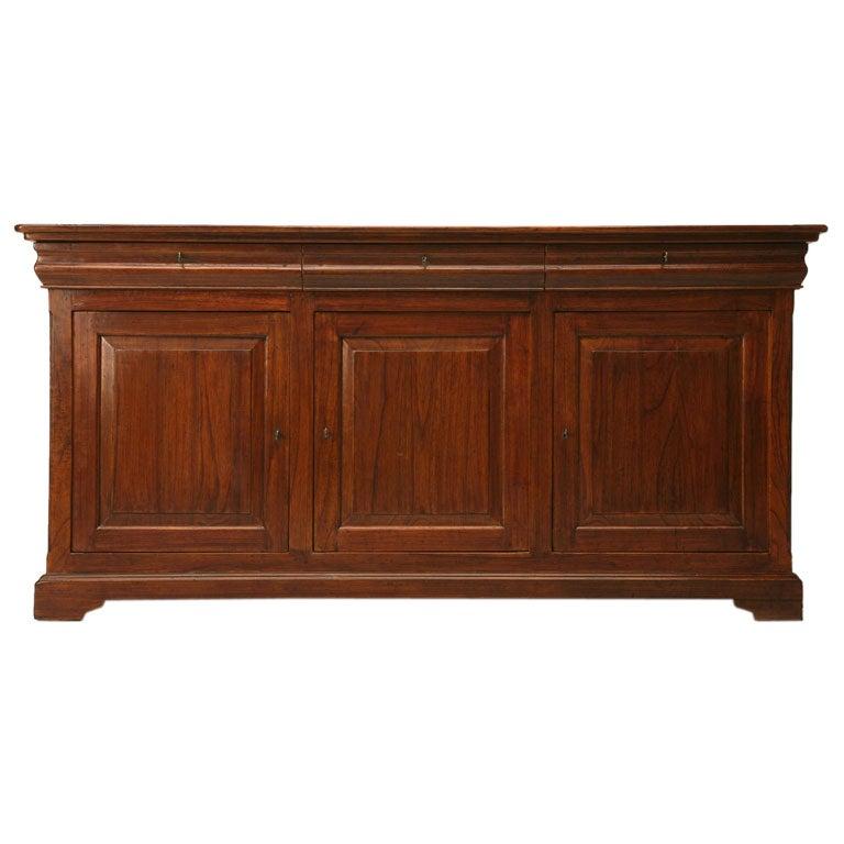 Teak Wood Buffet ~ Reclaimed teak wood buffet at stdibs