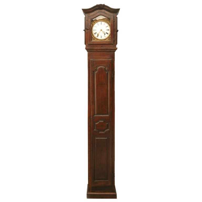c1820 French Antique Tall Case Clock 1