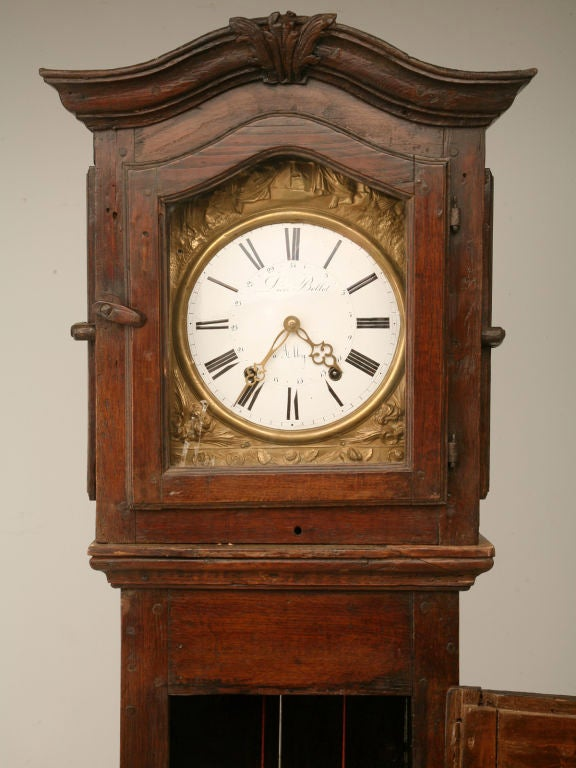 c1820 French Antique Tall Case Clock 4