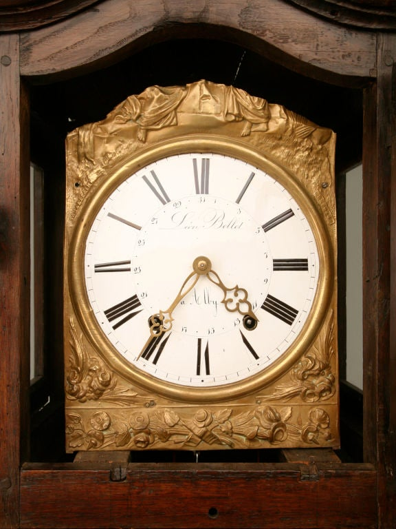 c1820 French Antique Tall Case Clock 5