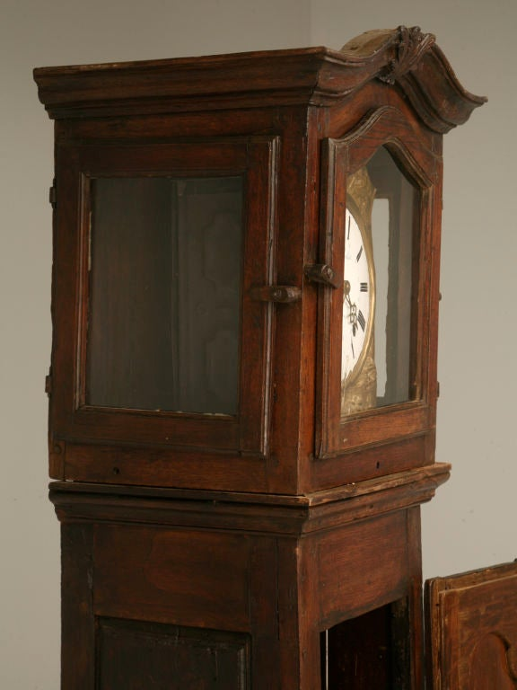 c1820 French Antique Tall Case Clock 7