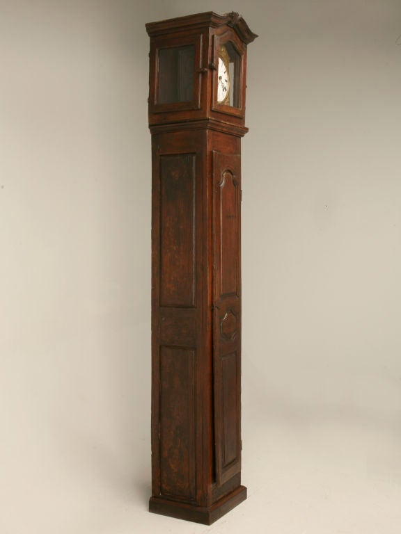 c1820 French Antique Tall Case Clock 8