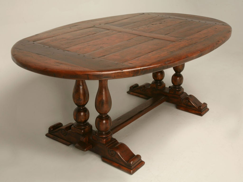 Reclaimed Hardwood Oval Dining Table at 1stdibs : thcb54004 from www.1stdibs.com size 1024 x 768 jpeg 60kB