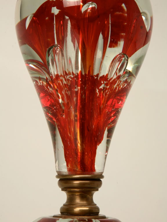 C 1950 St Clair Paperweight Lamp W Original Finial At 1stdibs
