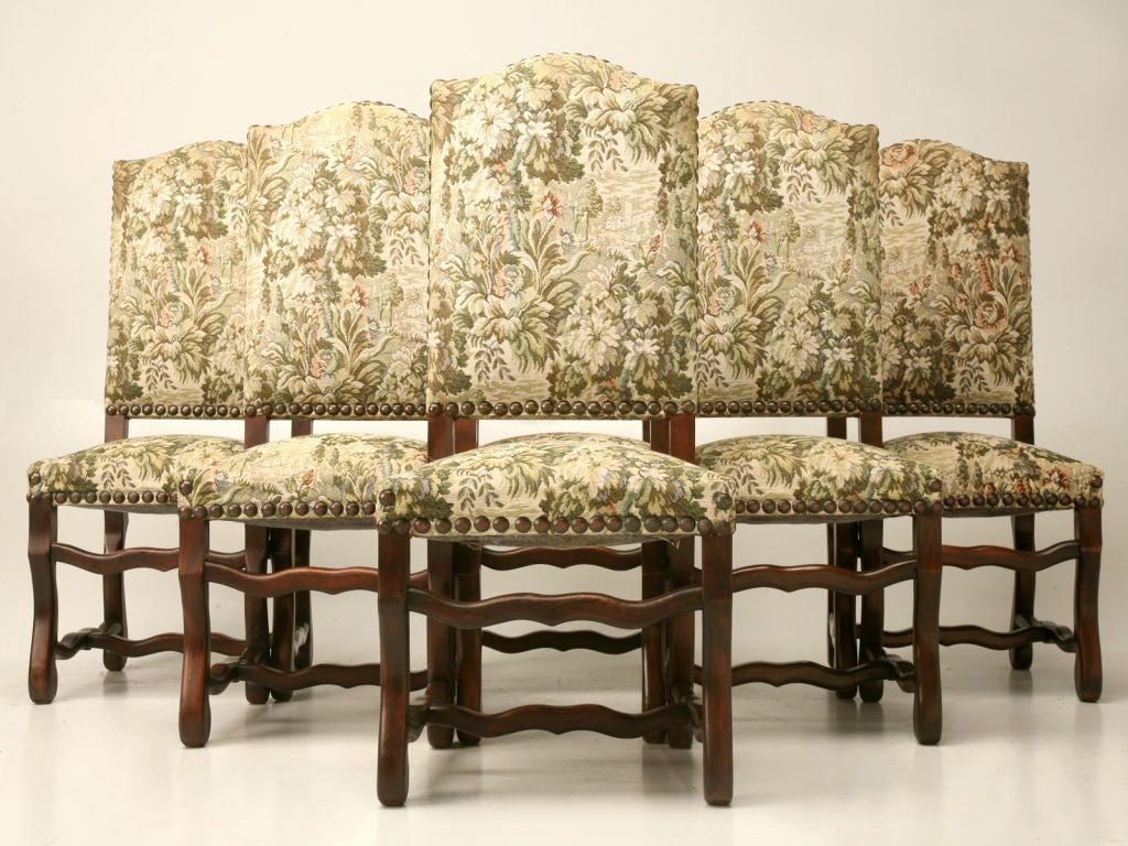 Set Of 8 Louis XIII Style Dining Chairs At 1stdibs